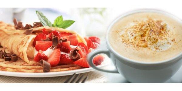 59 Kč za kávu a palačinku dle vlastního výběru v hodnotě 210 Kč. SLEVA 71 %