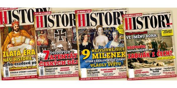 Pololetní předplatné History revue + bonusy