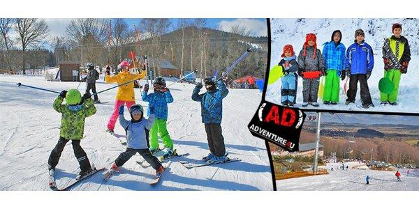Jednodenní lyžařský kurz na Monínci pro děti