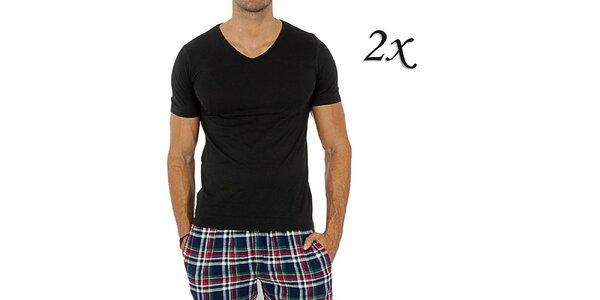 Sada dvou pánských černých triček Tommy Hilfiger