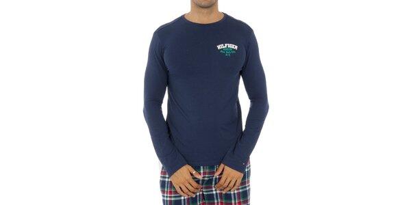 Pánské modré pyžamové triko Tommy Hilfiger