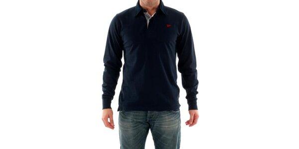 Pánské tričko s límečkem modré Hammersmith