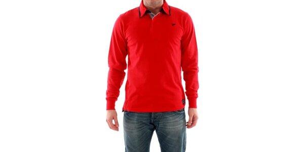 Pánské tričko s límečkem červené Hammersmith