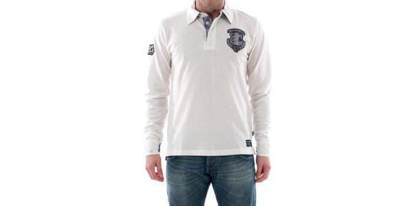 Pánské bílé triko s nášivkou na hrudi Hammersmith