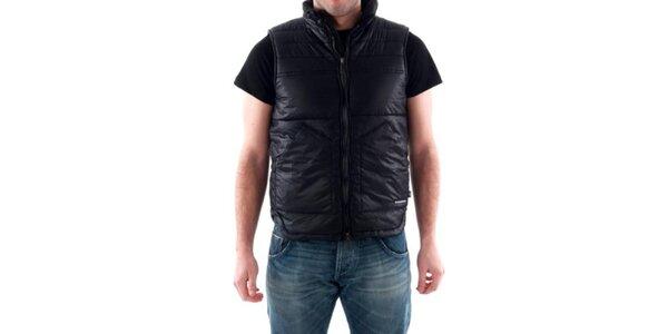 Pánská černá prošívaná vesta Hammersmith