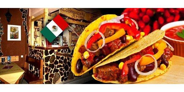 DVĚ mexické speciality a DVA libovolné nápoje