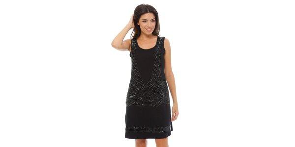 Dámské černé šaty Ada Gatti s kamínky