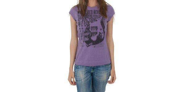 Dámské fialové tričko Miss Sixty s potiskem