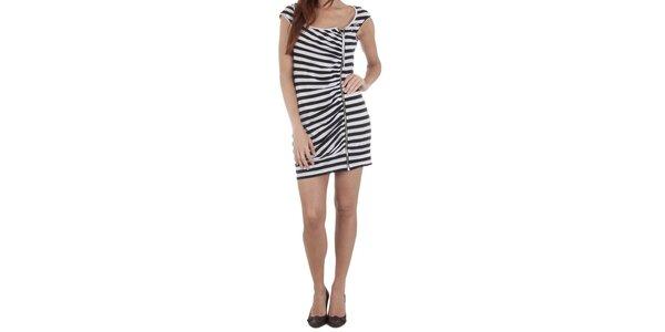 Dámské černo-bílé šaty Miss Sixty se zipem