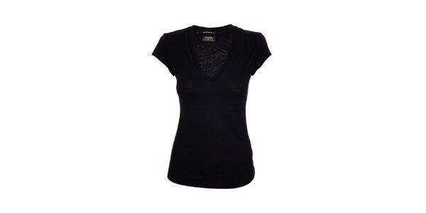 Dámské bavlněné triko značky Rare v černé barvě