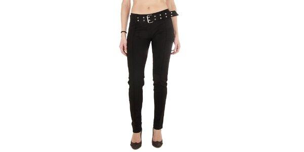 Dámské černé kalhoty Miss Sixty se širokým páskem