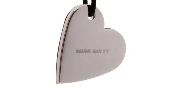 Dámský ocelový náhrdelník Miss Sixty srdce
