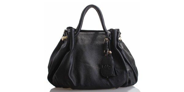Dámská černá kožená kabelka Belle & Bloom