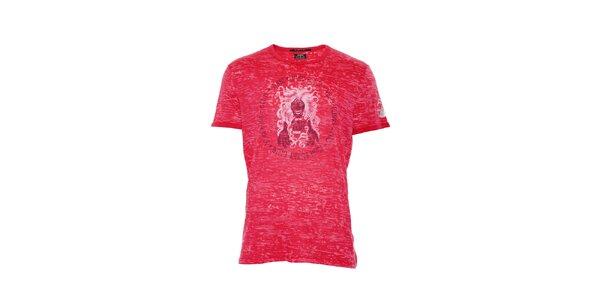 Pánské bavlněné triko značky Rare v červené barvě
