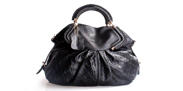Dámská černá kabelka Belle & Bloom s ozdobným řasením