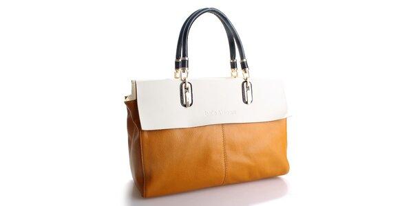 Dámská tmavě žlutá kabelka Belle & Bloom s krémovým lemem