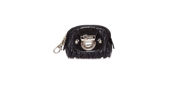 Dámská černá lakovaná peněženka Guess