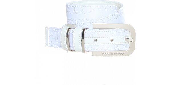 Dámský bílý pásek se vzorkem Roccobarocco