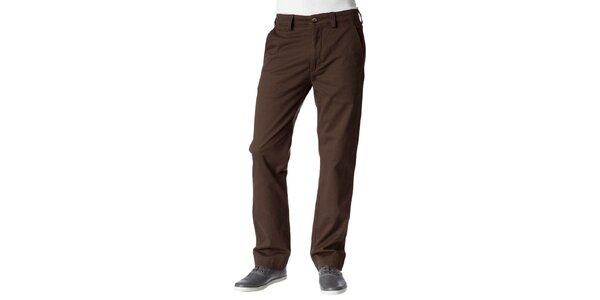 Pánské tmavě hnědé kalhoty Dockers