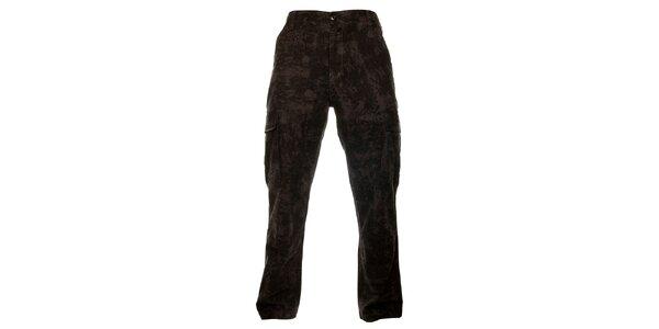 Pánské tmavě šedé maskáčové kalhoty Fundango