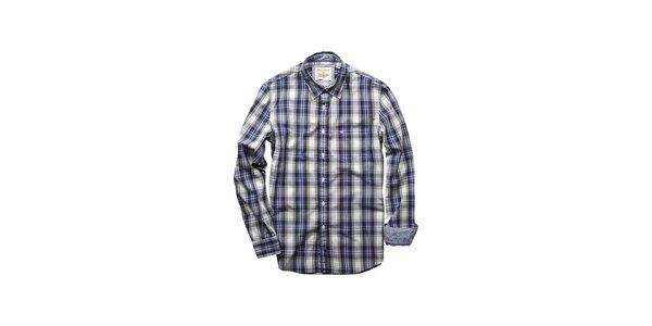 Pánská modro-šedá kostkovaná košile Dockers