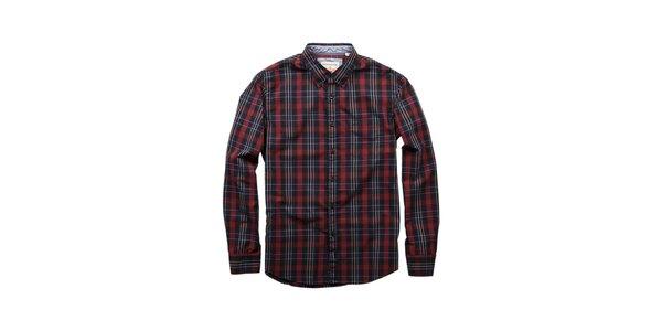 Pánská červeno-černá kostkovaná košile Dockers