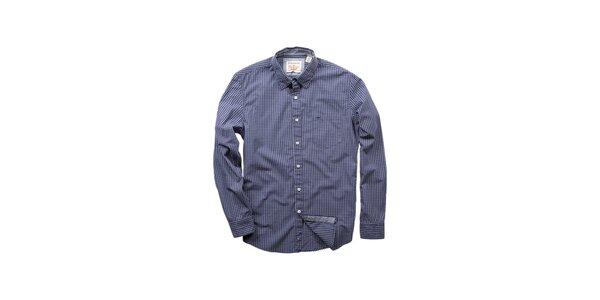 Pánská tmavě modrá kostičkovaná košile Dockers