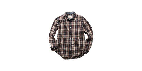 Pánská černo-oranžová kostkovaná košile Dockers