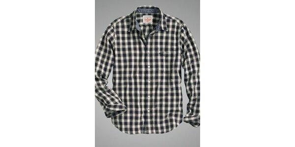 Pánská modro-béžová kostkovaná košile Dockers