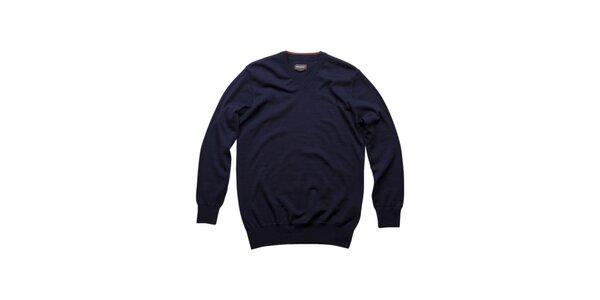 Pánský tmavě modrý merino svetr Dockers