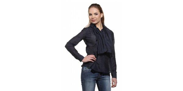 Dámská černá košile Replay s ozdobným sedlem