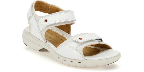 Dámské bílé sandále Clarks pro volný čas