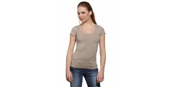 Dámské béžové tričko Replay s potiskem