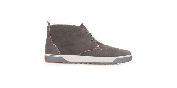 Pánské tmavě hnědé semišové šněrovací boty Clarks