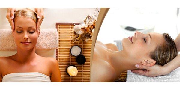 Indická masáž hlavy + antistresová masáž v délce 60 minut