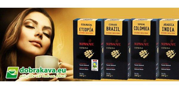 4 druhy zrnkové kávy v dárkové krabici