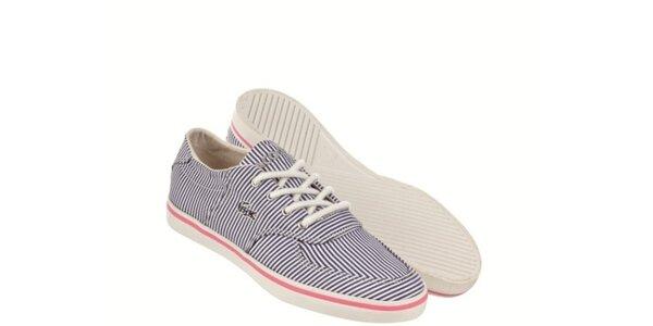Dámské námořnické modro-bílé tenisky Lacoste