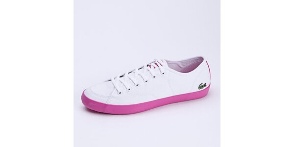 Dámské bílo-růžové tenisky Lacoste