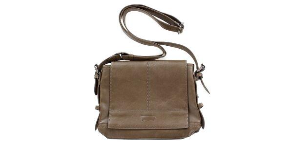 Dámská hnědobéžová kabelka s dlouhým popruhem přes rameno Levis