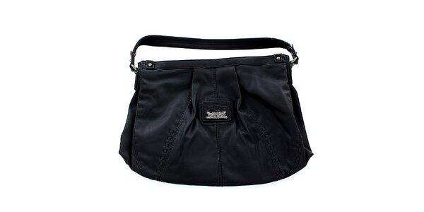 Dámská černá kabelka Levis s kovovým logem