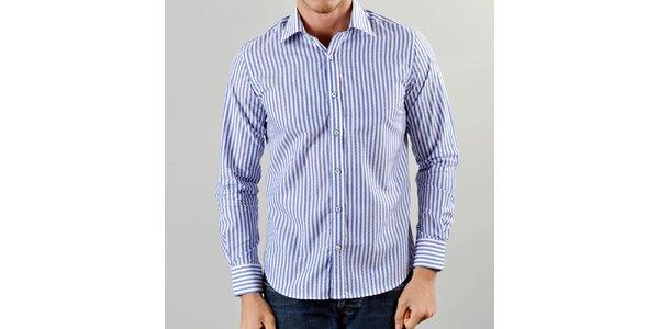 Pánská modře proužkovaná košile Marcel Massimo