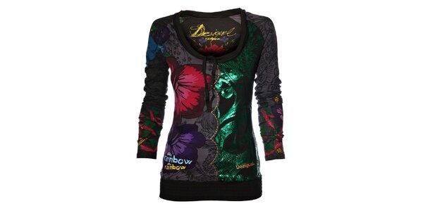 Dámské pestrobarevné tričko Desigual