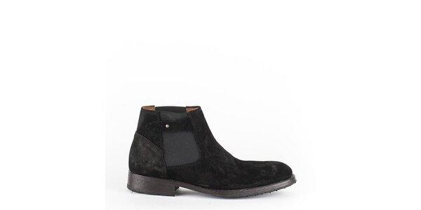 Pánské černé kotníkové boty Goldmud