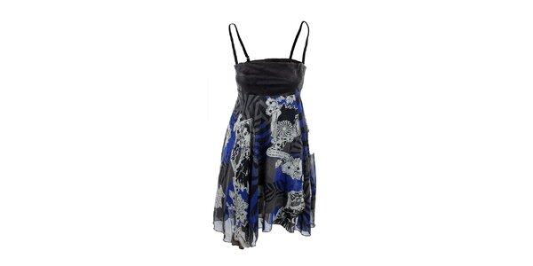 Dámské černo-modré šaty na ramínka Anfels Never Die
