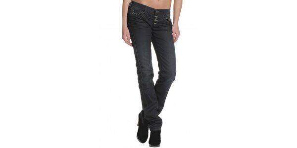 Dámské černé džíny Replay s kovovými cvoky