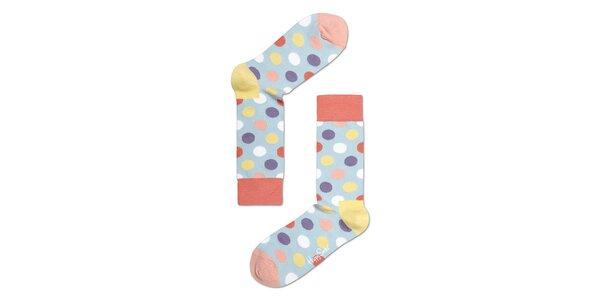 Pastelové puntíkaté ponožky Happy Socks