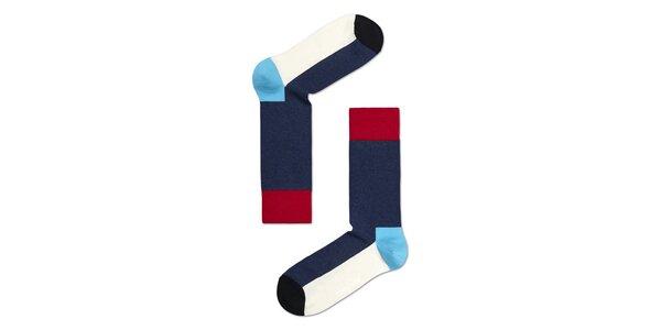 Modro-bílo-červené ponožky Happy Socks