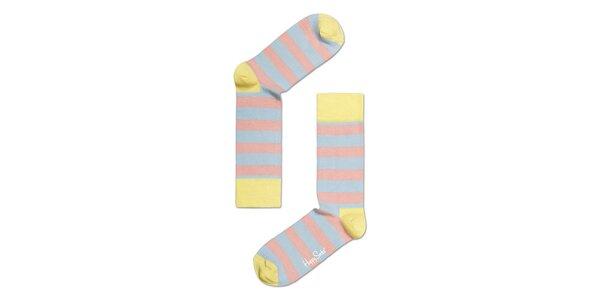 Světlé pruhované barevné ponožky Happy Socks