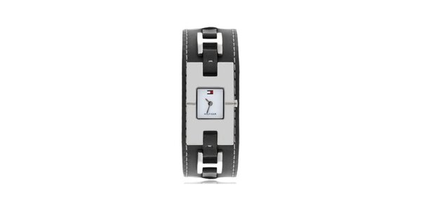 Dámské náramkové hodinky s černá´ým ocelovým páskem Tommy Hilfiger