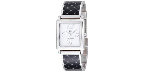 Dámské černo-stříbrné náramkové hodinky Tommy Hilfiger